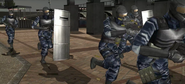 Normal soldiers attacking in Garland Park (PS2 version)