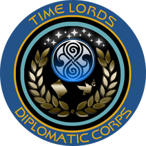 Timelords Diplomatic with Gallifreyan symbol