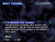 TS1 Select Challenge - 1-A Behead the Undead