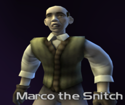 Marco the snitch