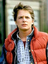 Michael J. Fox as Marty McFly in Back to the Future, 1985