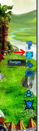 Badges tab