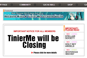 TinierMe will be Closing