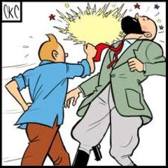 Tintin punching <a href=