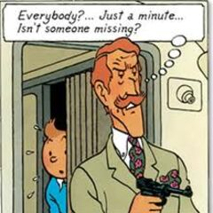 Tintin hiding from <a href=