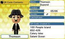 Thomson QR Code Contents