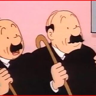 Thompson &amp; Thomson without their hats as seen in <a href=