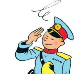 Tintin as a colonel while being drunk.