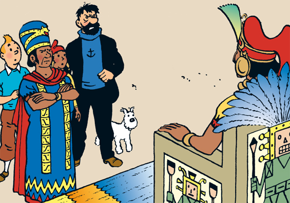 Tintin Convinces The Inca Prince That COLOR
