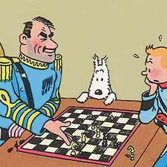 As seen in the book series, Tintin lost the chess game to <a href=
