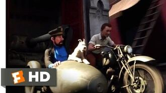 The Adventures of Tintin (2011) - The Motorcycle Chase Scene (8 10) Movieclips
