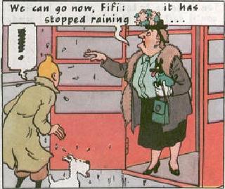 Fifi and woman