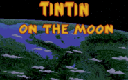 Tintin on the Moon titlescreen