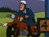 Policier syldave à moto