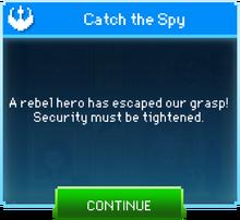 Message Catch Spy Escaped