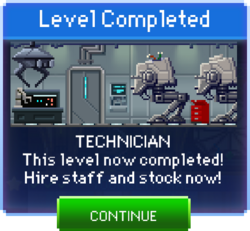 Message Technician Complete