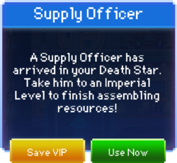 Supply Officer message