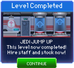 Message Jedi Jump Up Complete