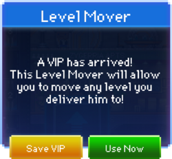 Level Mover message