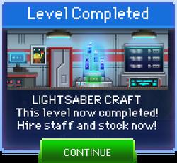 Message Lightsaber Craft Complete