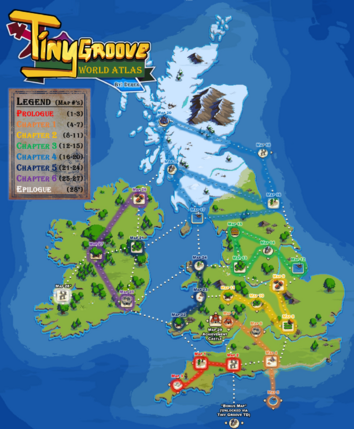 TinyGroove World Map