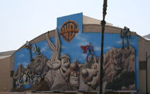 Old Warner Bros Studios cartoon character mural