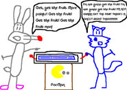 Calamity Coyote and Furrball play Pac-Man