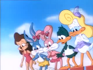 Fourth Pool Babe goof, Buster, Babs, Plucky and Shirley
