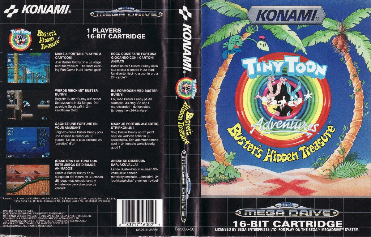 [Análise Retro Game] - TinyToons Adventures Buster's Hidden Treasure - Mega Drive/Genesis Latest?cb=20140408035747