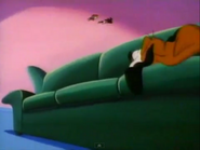 Gnat and Itchy are flying towards Byron's fur