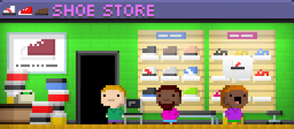Tiny Tower Shoe Store