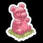 Sticker gummybear pink@2x