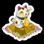 Sticker luckycat@2x