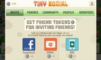 TinySocial screen Invite