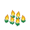 Decoration fireflower orange thumbnail@2x