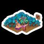 Sticker rusticpalmtrees@2x