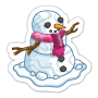 Sticker snowman@2x