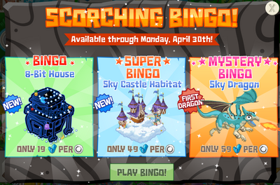 Scorching bingo