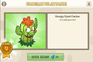 Dinocrates 4 googly eyed cactus