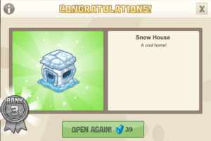 New year 3 snow house