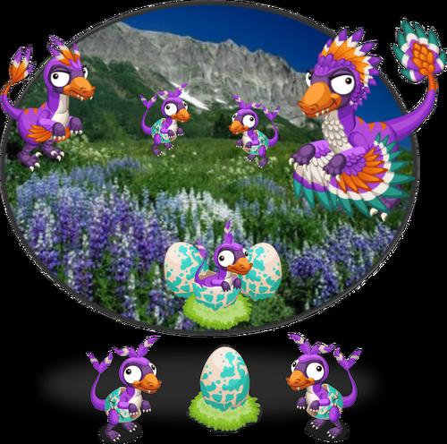 PurpleBambiraptorDiorama2