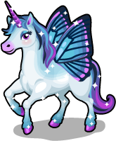 Butterfly wing unicorn single
