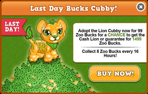 Cubby lion last modal