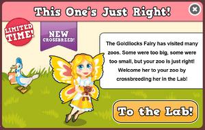Goldilocks fairy modal