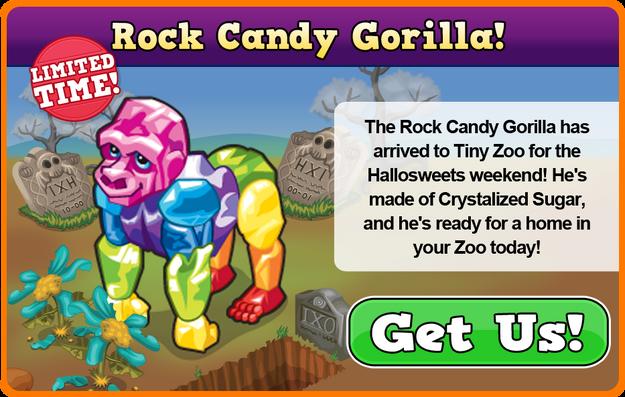 Rock candy gorilla modal