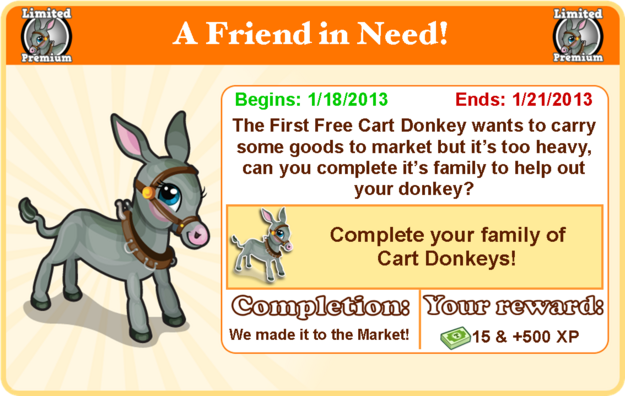Cart donkey goal modal