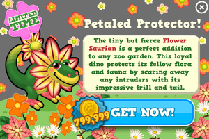 Flower saurian modal