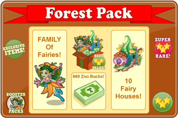 Forest fairy booster pack modal