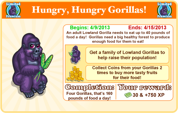 Lowland gorilla goal modal