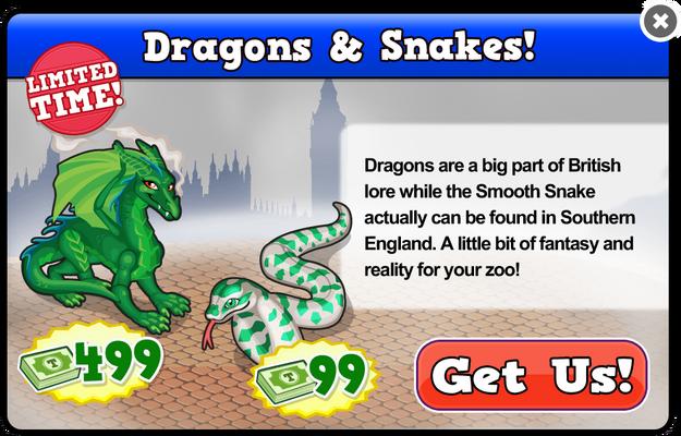 Green dragon modal